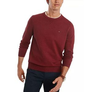TOMMY HILFIGER Men's Burgundy Sweater Size M